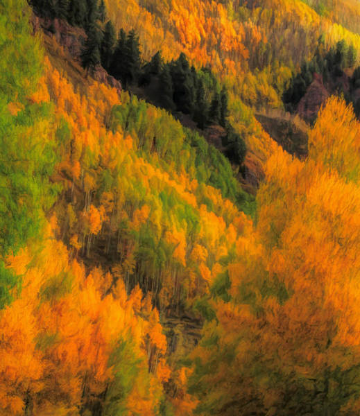 Painting - Colorado Fall Colors by Dan Sproul