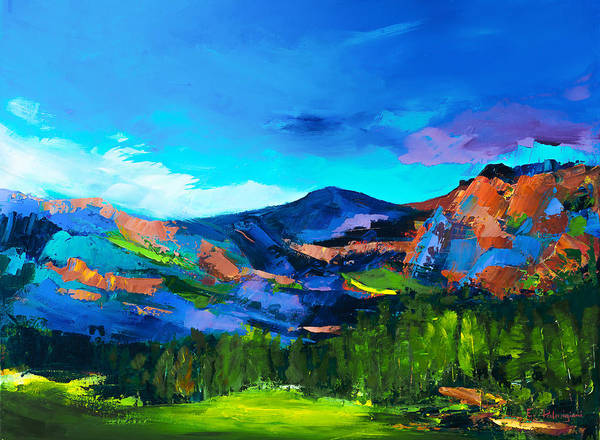 Painting - Colorado Hills by Elise Palmigiani