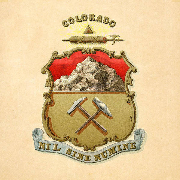 Digital Art - Colorado Historical Coat Of Arms Circa 1876 by Serge Averbukh