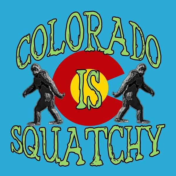Wall Art - Digital Art - Colorado Is Squatchy by David G Paul