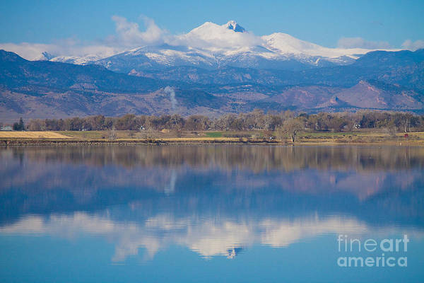 Photograph - Colorado Longs Peak Circling Clouds Reflection by James BO Insogna