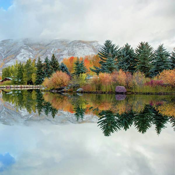 Photograph - Colorado Mountain Autumn Reflections 1x1 by Gregory Ballos