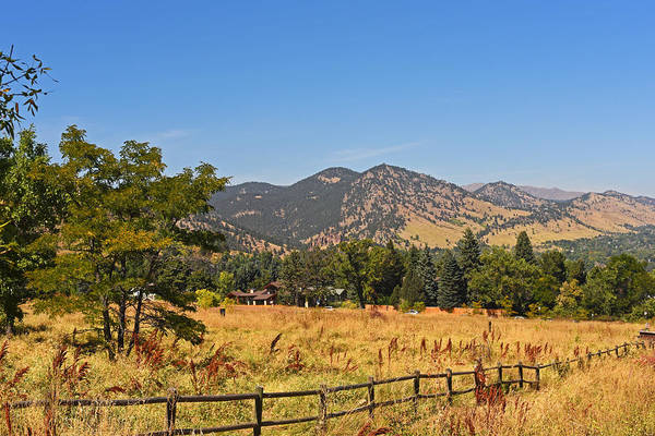 Photograph - Colorado Mountains From Chautauqua Park by Toby McGuire