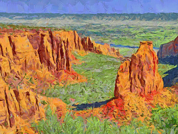 Digital Art - Colorado National Monument 2 by Digital Photographic Arts