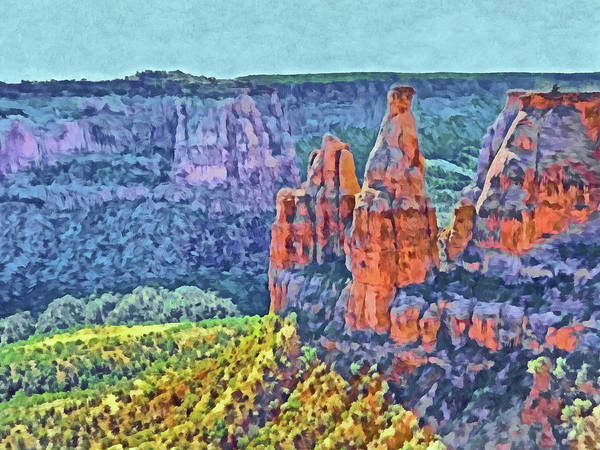 Digital Art - Colorado National Monument 3 by Digital Photographic Arts