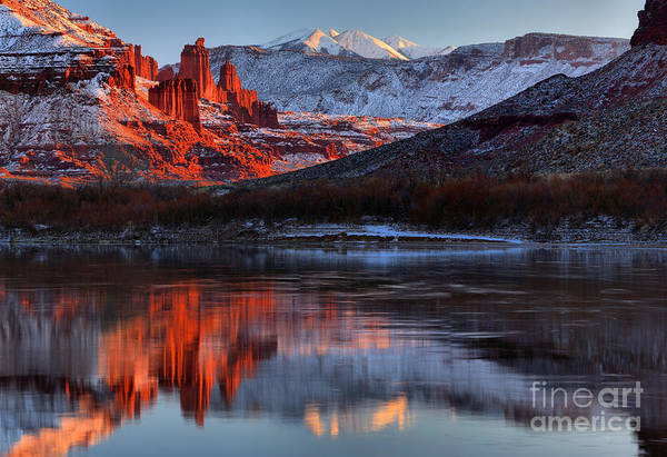 Photograph - Colorado Red Tower Reflections by Adam Jewell