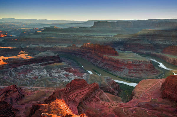 Photograph - Colorado River And Dead Horse Point State Park At Sunset by Gregory Ballos