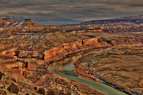 Kokopelli Photograph - Colorado River Bend by Allen Lefever