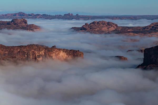 Photograph - Colorado River Canyon Fog by Deborah Hughes