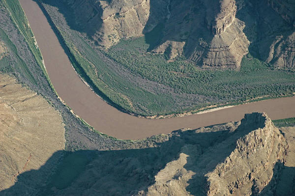 Photograph - Colorado River Changing Direction In Grand Canyon by Gary Slawsky