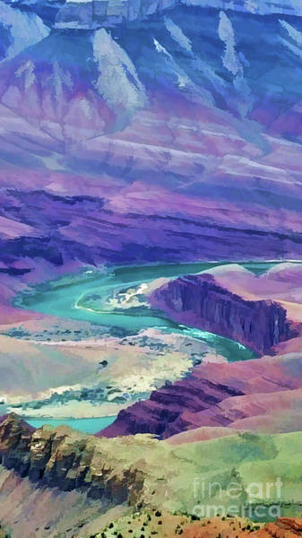 Photograph - Colorado River In The Grand Canyon by Roberta Byram