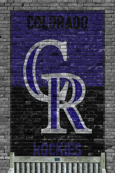 Outfield Wall Art - Painting - Colorado Rockies Brick Wall by Joe Hamilton