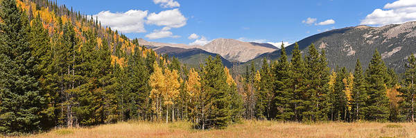 Photograph - Colorado Rockies National Park Fall Foliage Panorama by Toby McGuire
