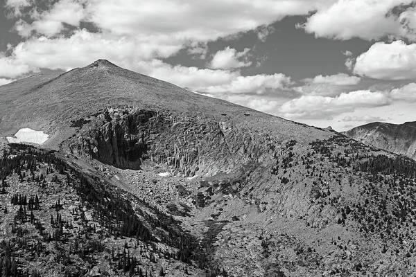 Photograph - Colorado Rockies National Park Mountains 2 Black And White by Toby McGuire
