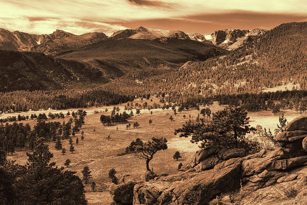 Photograph - Colorado Rockies Sepia Toned by Greg Norrell