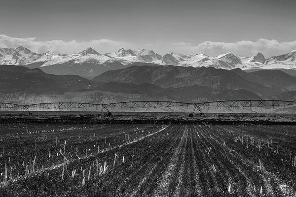 Photograph - Colorado Rocky Mountain Agriculture View In Black And White by James BO Insogna