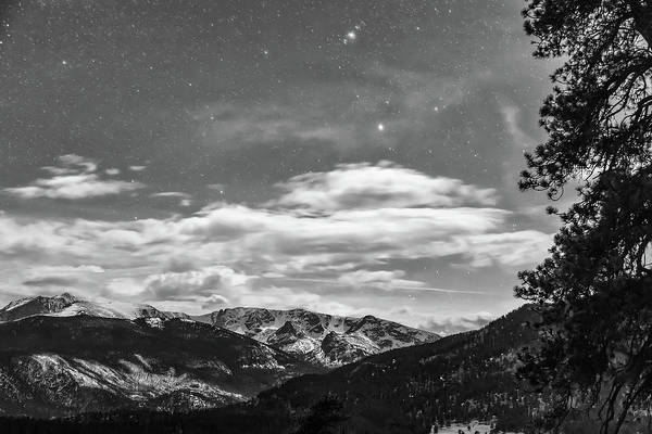 Photograph - Colorado Rocky Mountain Evening View In Black And White by James BO Insogna