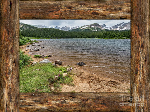 Photograph - Colorado Rocky Mountain Love Cabin Window View by James BO Insogna