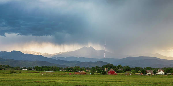 Photograph - Colorado Rocky Mountain Red Barn Country Storm by James BO Insogna