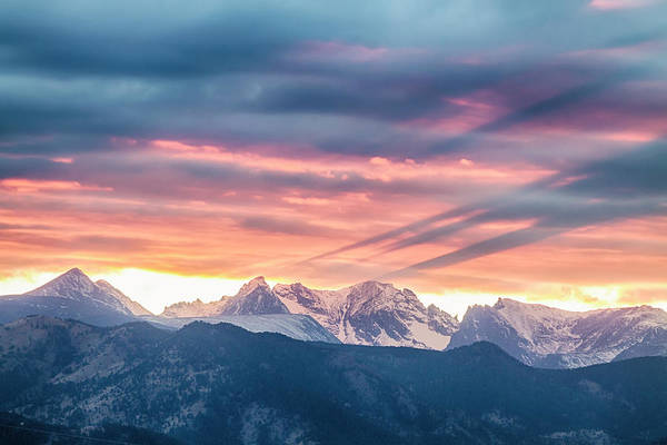 Photograph - Colorado Rocky Mountain Sunset Waves Of Light Part 2 by James BO Insogna