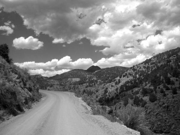 Photograph - Colorado Shelf Road 1 B-w by Anita Burgermeister