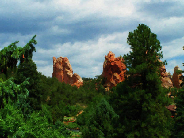 Painting - Colorado Springs Area Digital Oil #04 by Chris Flees