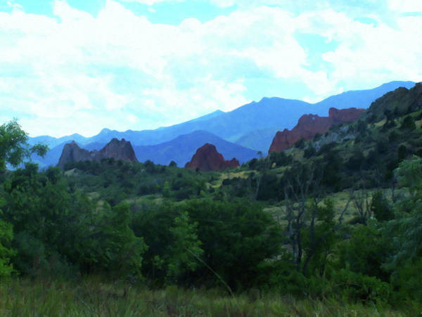 Painting - Colorado Springs Area Digital Oil #44 by Chris Flees