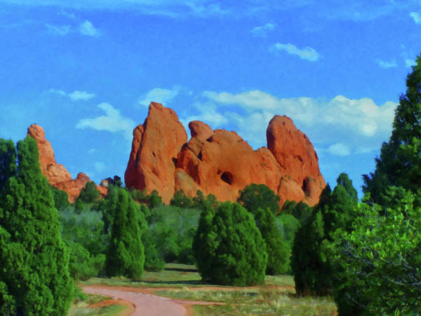 Painting - Colorado Springs Area Digital Oil #59 by Chris Flees