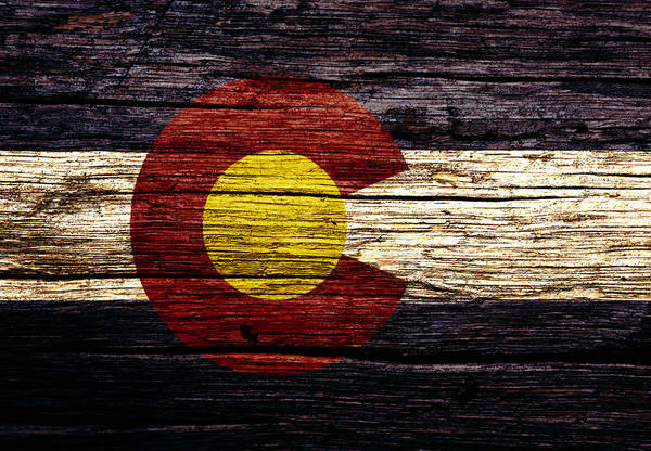 Spring Mountains Mixed Media - Colorado State Flag 3w by Brian Reaves