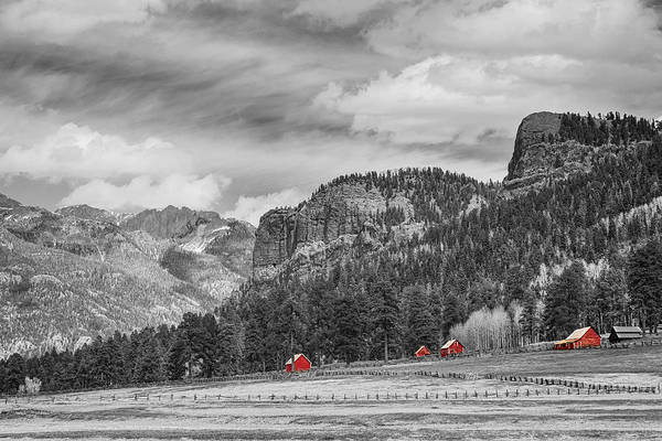Photograph - Colorado Western Landscape Red Barns by James BO Insogna