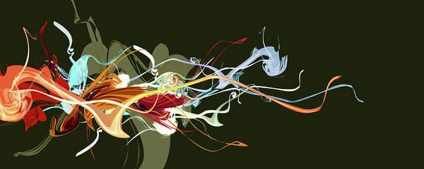 Wall Art - Digital Art - Colorare Il Fiore by Laurence Adamson