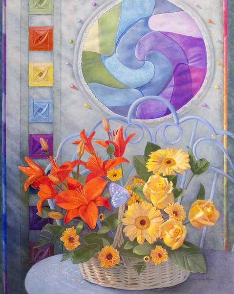 Origami Painting - Colordance Of Summer by Nancy Lee Moran
