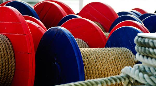 Photograph - Colored Boat Ropes by Louis Dallara