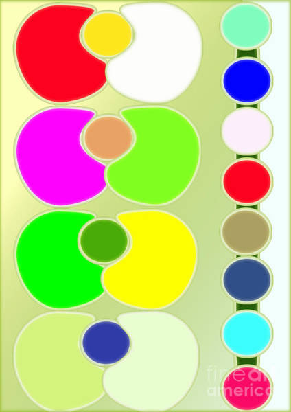 Ping-pong Digital Art - Colored Circles by Jon Fennel