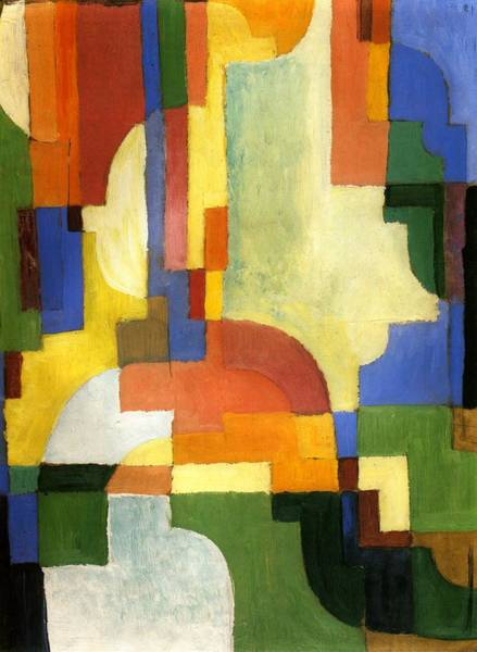 Painting - Colored Forms I by August Macke