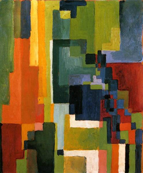 Painting - Colored Forms II by August Macke