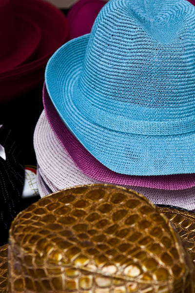 Photograph - Colored Hats by Jon Glaser