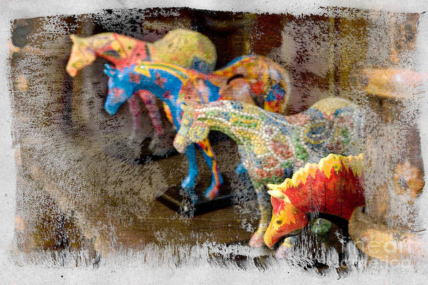 Photograph - Colored Horses. by Andrey  Godyaykin