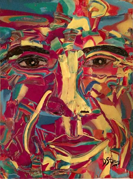 Mixed Media - Colored Man by Deborah Stanley