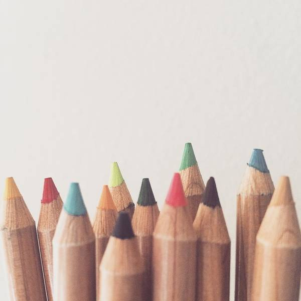 Photograph - Colored Pencils by Cortney Herron