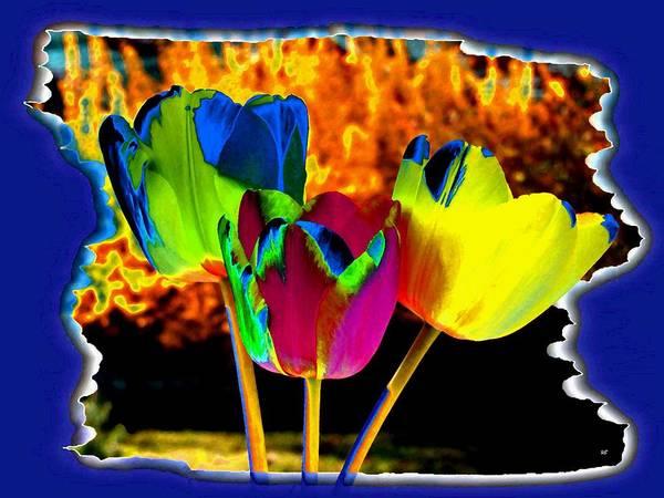 Wall Art - Digital Art - Colorez Votre Monde Avec Tulipes by Will Borden