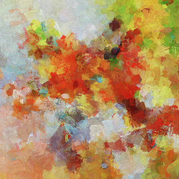 Painting - Colorful Abstract Landscape Painting by Inspirowl Design