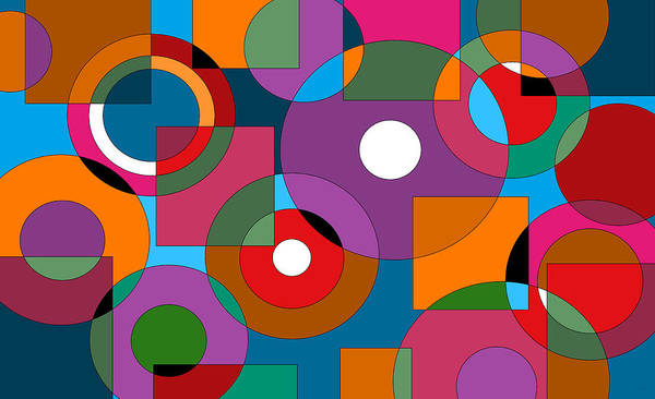 Digital Art - Colorful Abstract by Val Arie