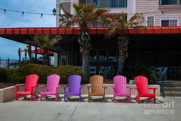 Photograph - Colorful Adirondack Chairs by Dale Powell