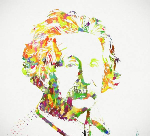 Quantum Physics Painting - Colorful Albert Einstein by Dan Sproul