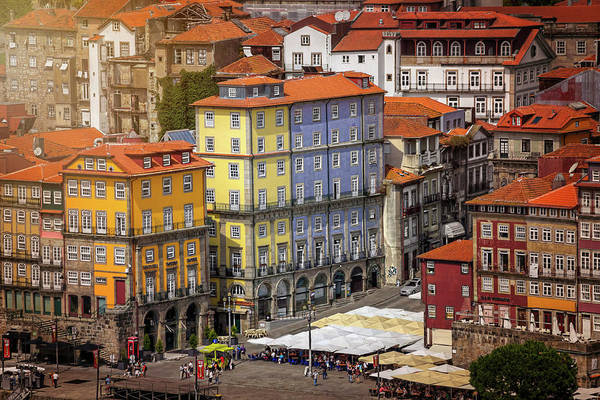 Balcony Photograph - Colorful Architecture Of Ribeira Porto  by Carol Japp