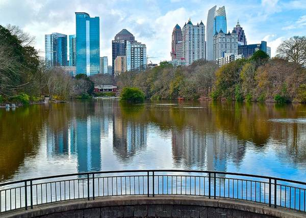Wall Art - Photograph - Colorful Atlanta Skyline by Frozen in Time Fine Art Photography