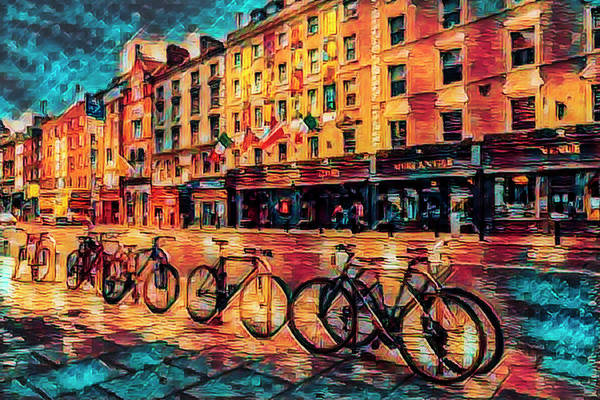 Photograph - Colorful Bicycles On The Streets Of Dublin by Debra and Dave Vanderlaan