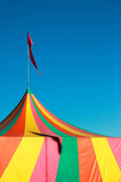 Wall Art - Photograph - Colorful Big Top Tent At The Fair by Todd Klassy