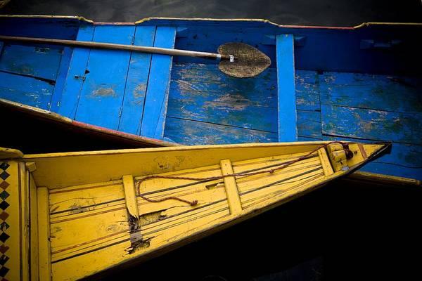 Dal Lake Photograph - Colorful Boats Dal Lake by David DuChemin